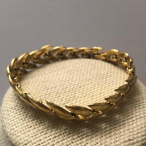 Vintage Napier gold leaf bracelet